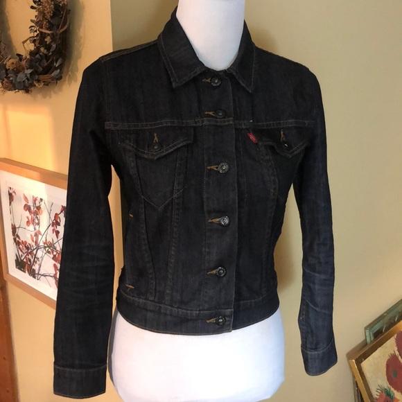 Levi's Jackets & Blazers - LEVIS size SMALL Darkwash DENIM jacket $79 new